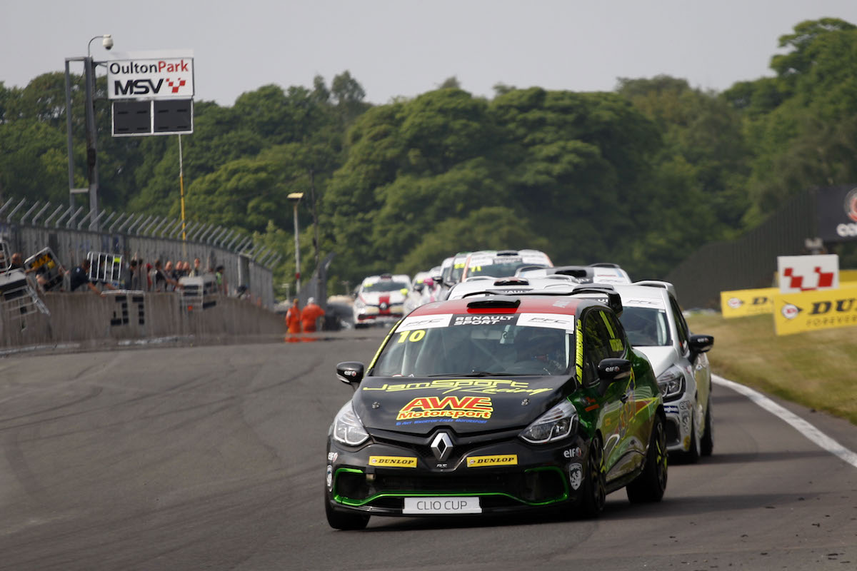 AWE Leading at Oulton Park UK Clio Cup